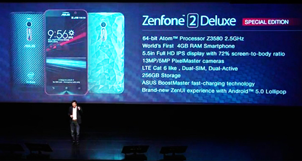Asus unveils Zenfone 2 Deluxe limited edition with 256GB storage