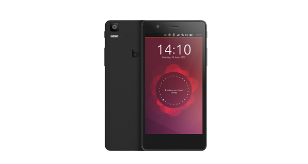 BQ Aquaris E5 HD Ubuntu Edition Front and Back View