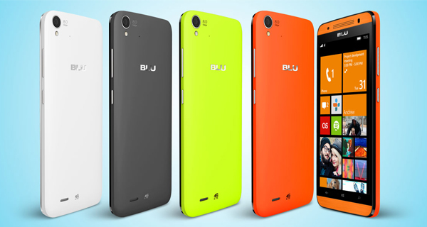 Blu Win HD LTE Back and Front View