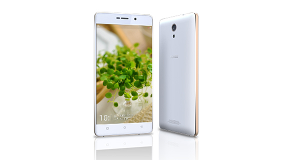 Gionee Marathon M4 Front and Back White Color