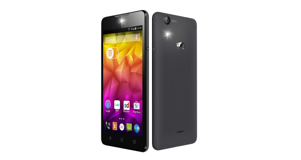 Micromax Canvas Selfie 2 Front and Back View