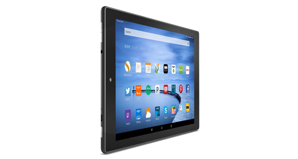 Amazon Fire HD 10 Front and Side View