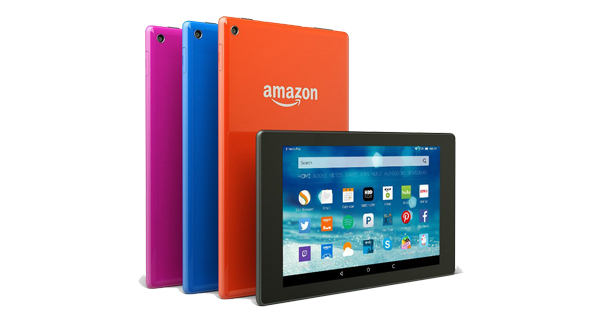 Amazon Fire HD 8 Front and Back View