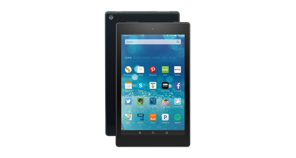 Amazon Fire HD 8 Front and Back
