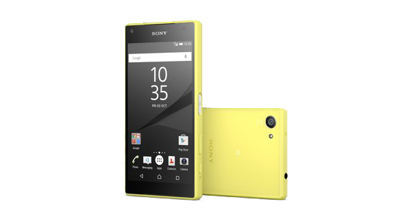 Sony Xperia Z5 Compact Front and Back View