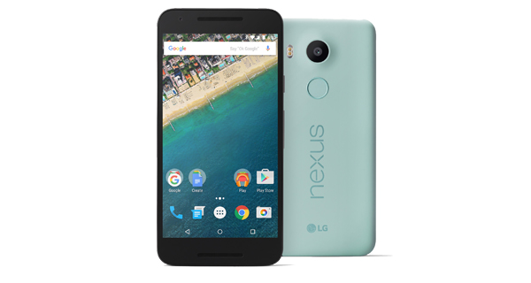 Google Nexus 5X Front and Back View