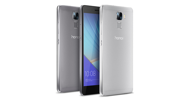 Huawei Honor 7 Front and Back View