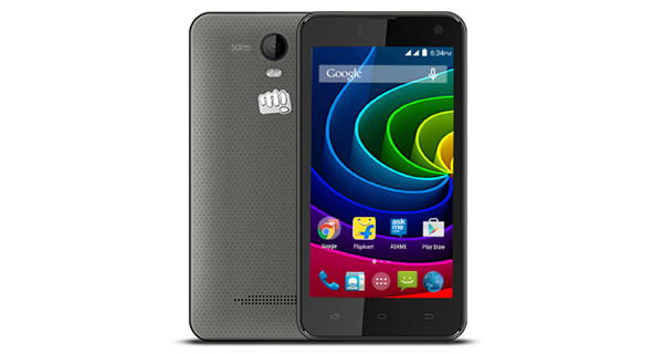 MIcromax Bolt Q339 Back View