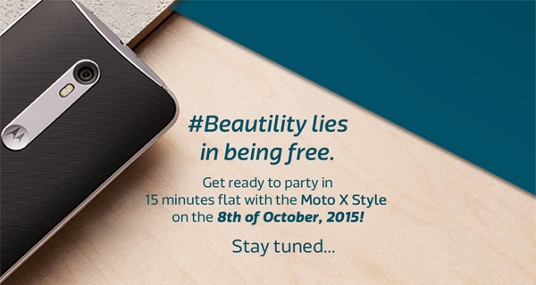 Motorola Moto X Style India launch set for 8th October 2015