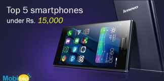 smartphones under Rs. 15,000