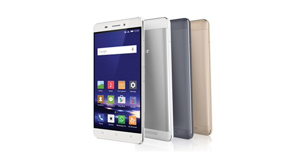Gionee Marathon M5 Front and Back View