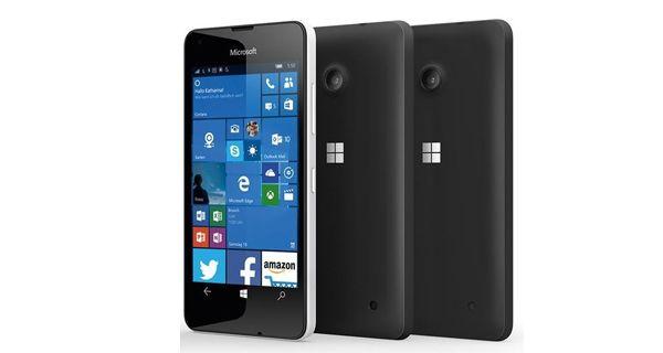 Microsoft Lumia 550 Front and Back Black
