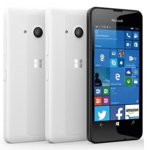 MICROSOFT LUMIA 550 FRONT AND BACK WHITE
