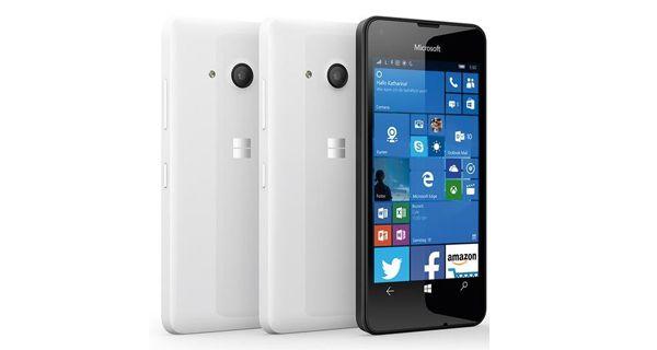 Microsoft Lumia 550 Front AND Back White