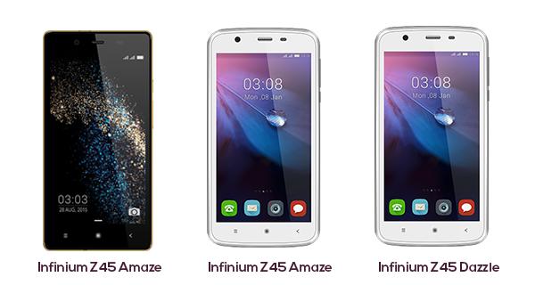 Videocon launches Infinium Z55 Delite, Z45 Dazzle and Z45 Amaze budgeted Smartphones in India