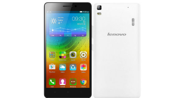 Lenovo A7000 Turbo Front and Back