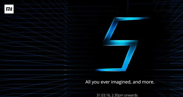 Xiaomi Mi5 set to launch in India on 31st March 2016