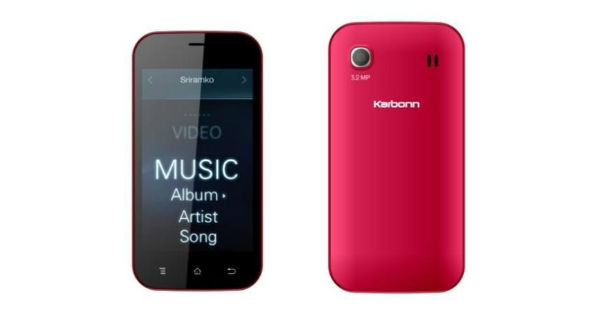 Karbonn A91 Front and Back