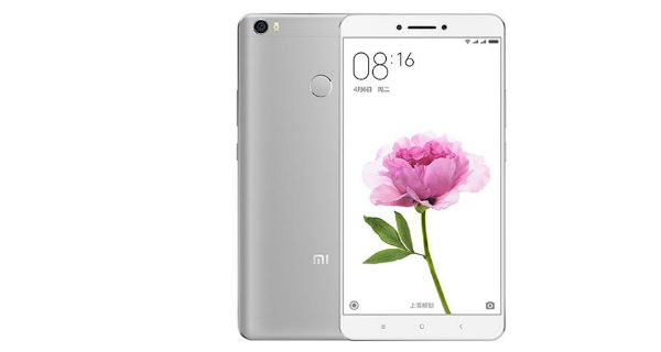 Xiaomi Mi Max Front and Back