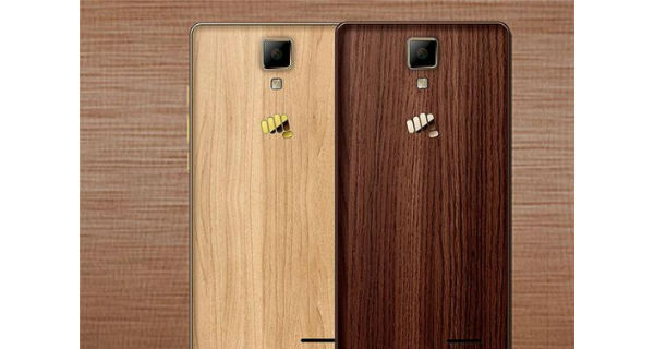 Micromax Canvas 5 lite special edition with wooden back panel goes official for Rs. 8499
