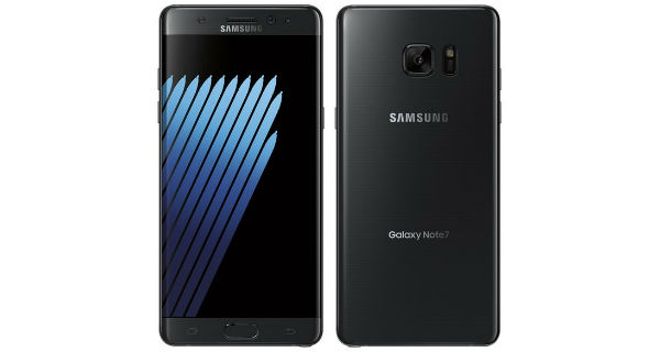 Samsung Galaxy Note 7 Front and Back
