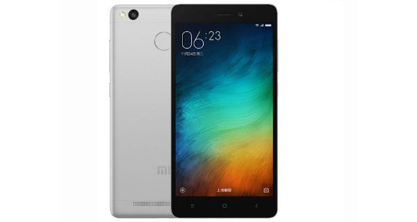 Xiaomi Redmi 3S Front and Back
