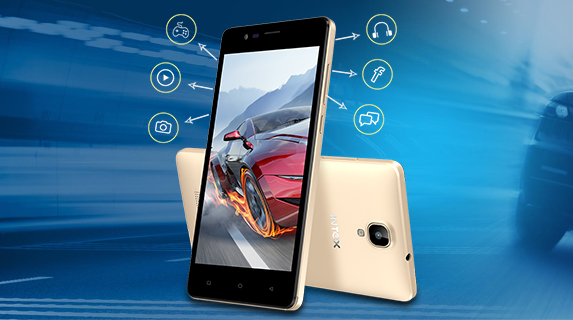 Intex Aqua Lions 4G Front and Back