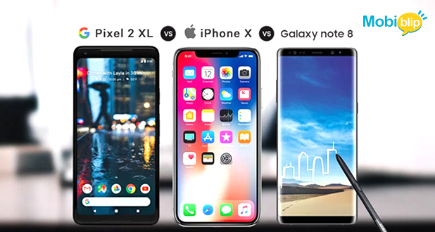 Comparison the best cameras: iPhoneX v/s Pixel2 XL v/s Galaxy Note 8