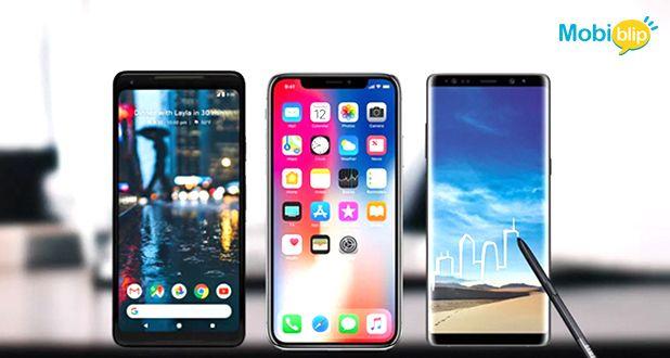 iPhoneX v/s Pixel2 XL v/s Galaxy Note 8