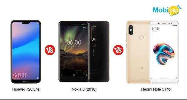 Huawei P20 Lite vs Nokia 6 (2018) vs Redmi Note 5 Pro